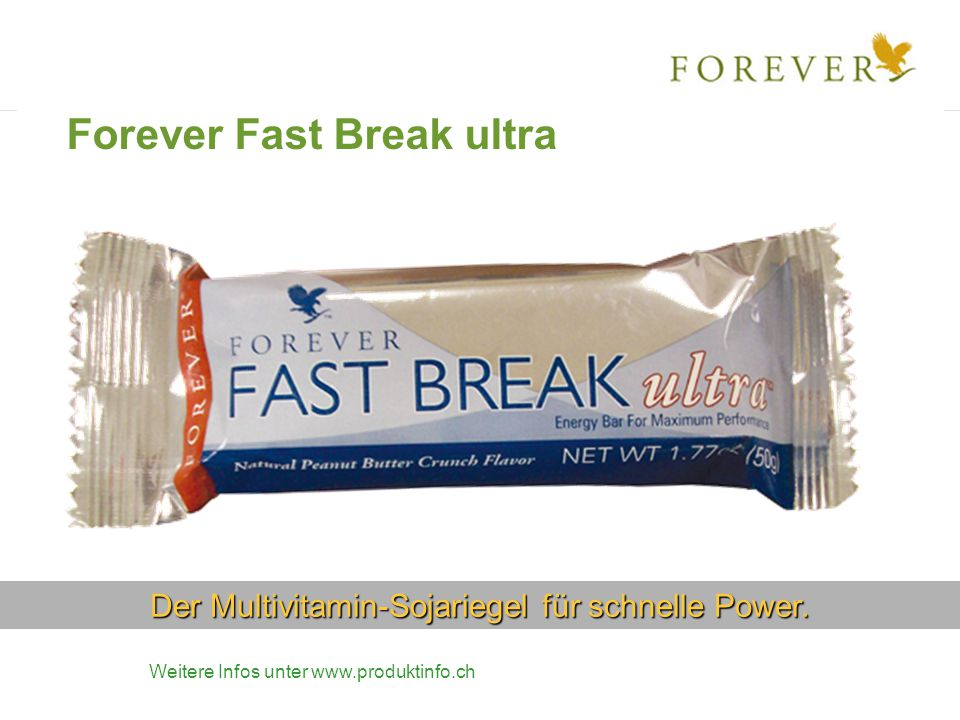 Der Multivitamin-Sojariegel für schnelle Power.