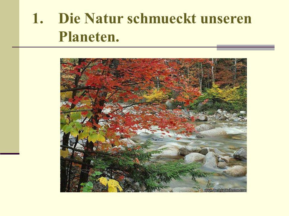 1.Die Natur schmueckt unseren Planeten.