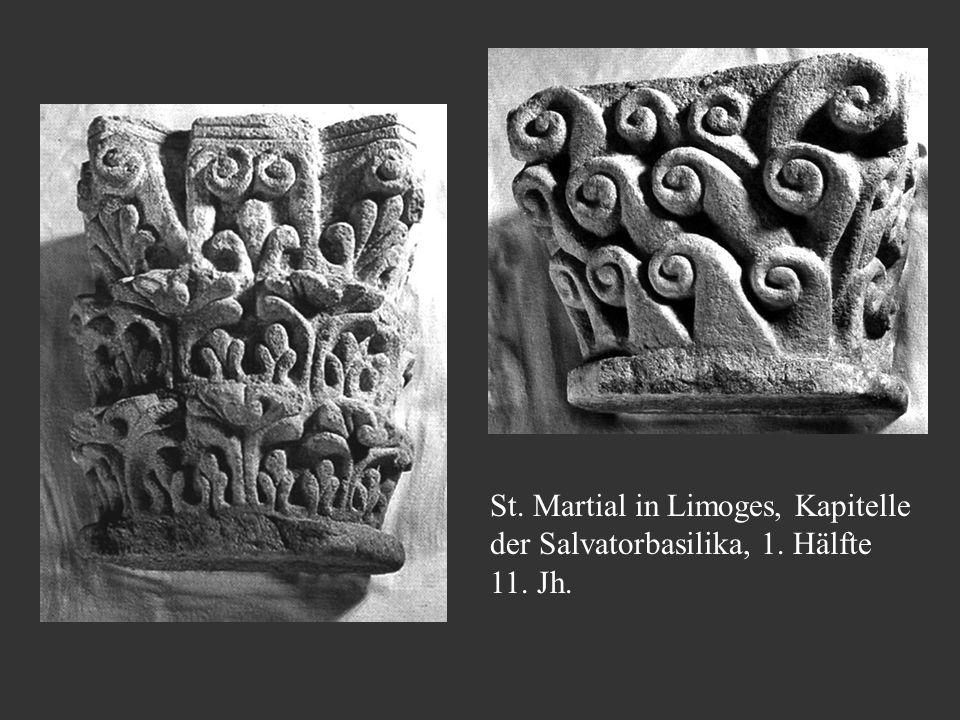 St. Martial in Limoges, Kapitelle der Salvatorbasilika, 1. Hälfte 11. Jh.