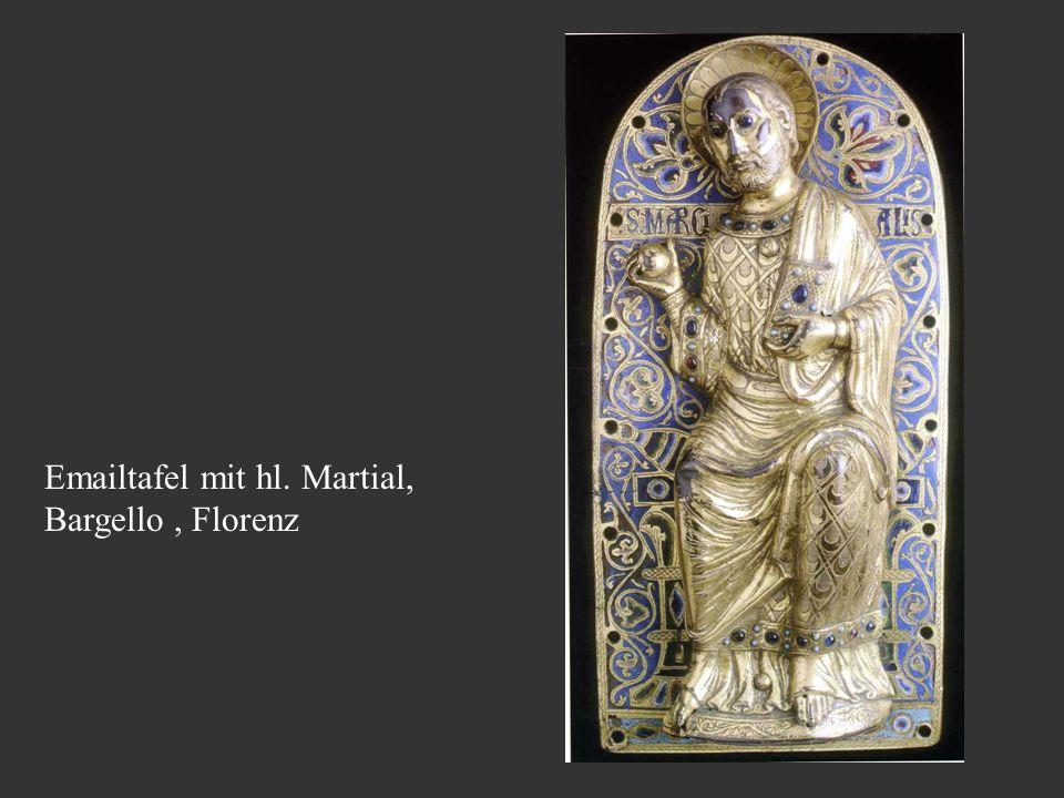 Emailtafel mit hl. Martial, Bargello, Florenz
