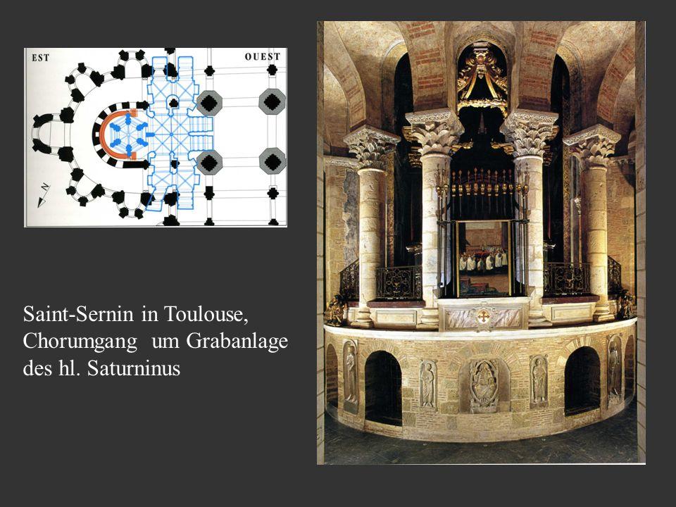 Saint-Sernin in Toulouse, Chorumgang um Grabanlage des hl. Saturninus