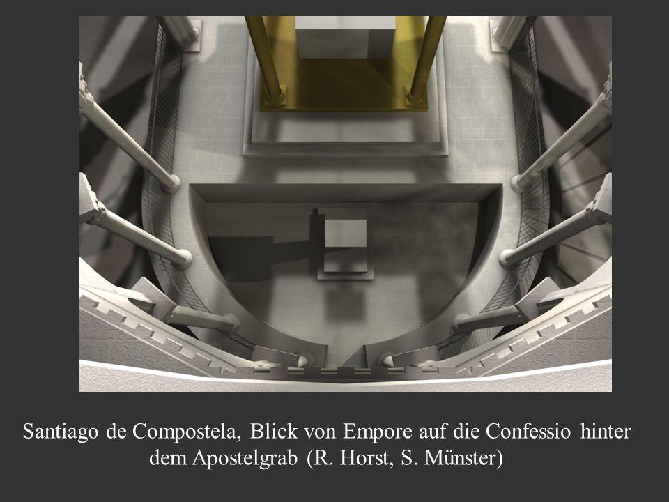 Santiago de Compostela, Blick von Empore auf die Confessio hinter dem Apostelgrab (R. Horst, S. Münster)