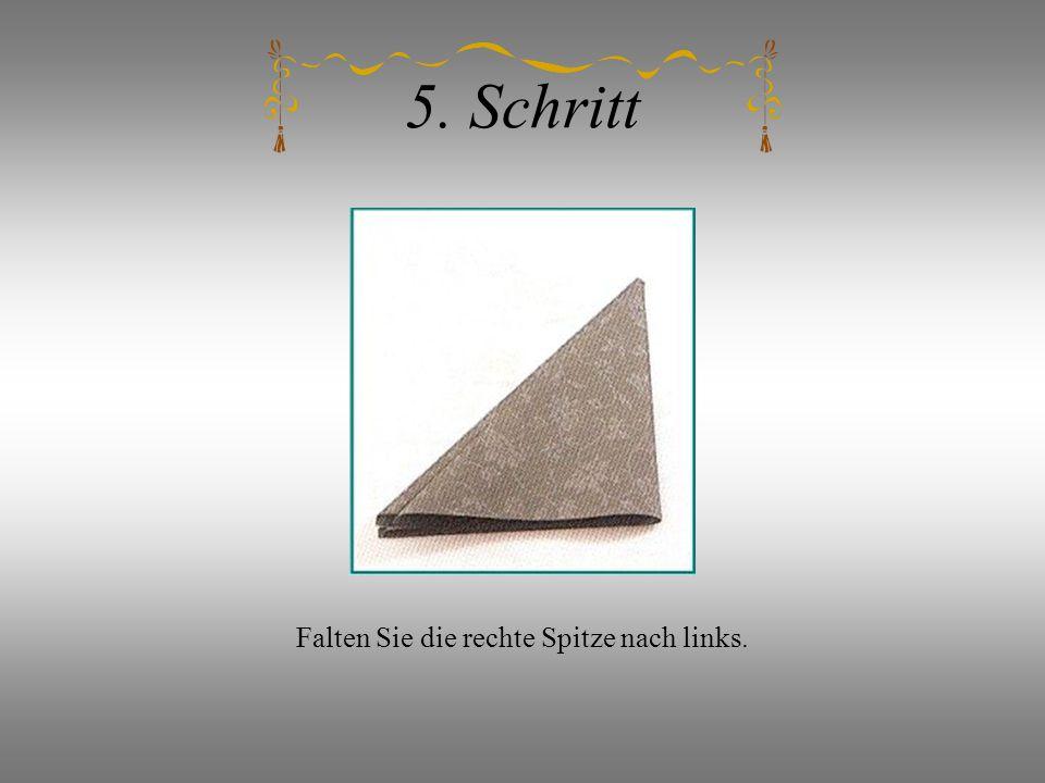 5. Schritt Falten Sie die rechte Spitze nach links.