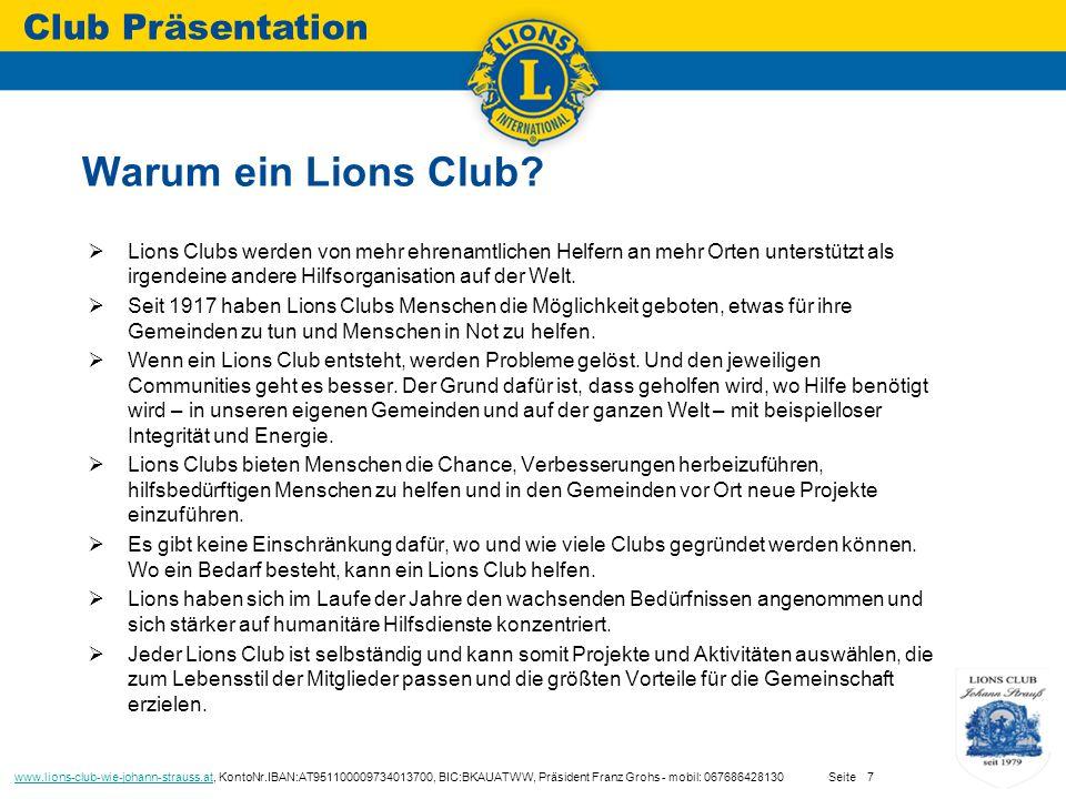  Lions Clubs werden von mehr ehrenamtlichen Helfern an mehr Orten unterstützt als irgendeine andere Hilfsorganisation auf der Welt.