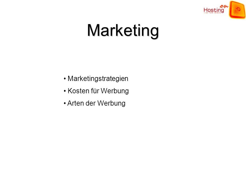 Marketing Marketingstrategien Kosten für Werbung Arten der Werbung