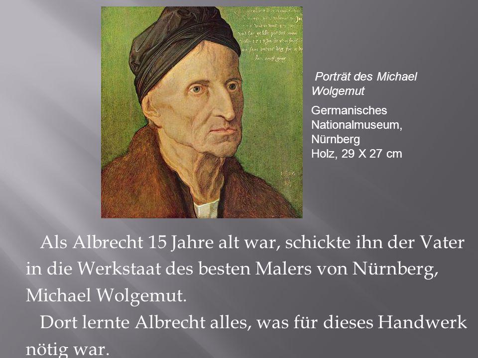 Er arbeitete sehr hart an seinen Werken in der Nürnberger Altstadt.