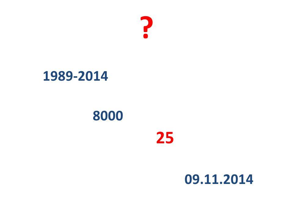 ? 1989-2014 8000 25 09.11.2014
