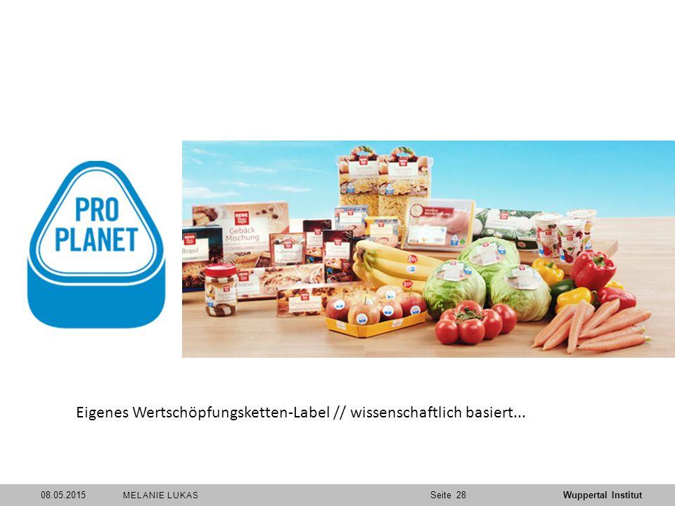 SeiteWuppertal Institut 08.05.201528 MELANIE LUKAS Eigenes Wertschöpfungsketten-Label // wissenschaftlich basiert...