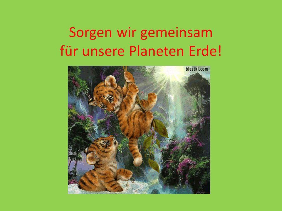 Sorgen wir gemeinsam für unsere Planeten Erde!