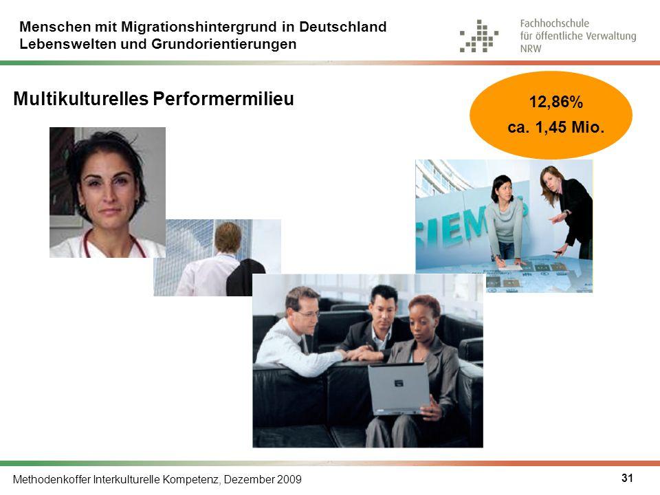 Menschen mit Migrationshintergrund in Deutschland Lebenswelten und Grundorientierungen Methodenkoffer Interkulturelle Kompetenz, Dezember 2009 31 Mult