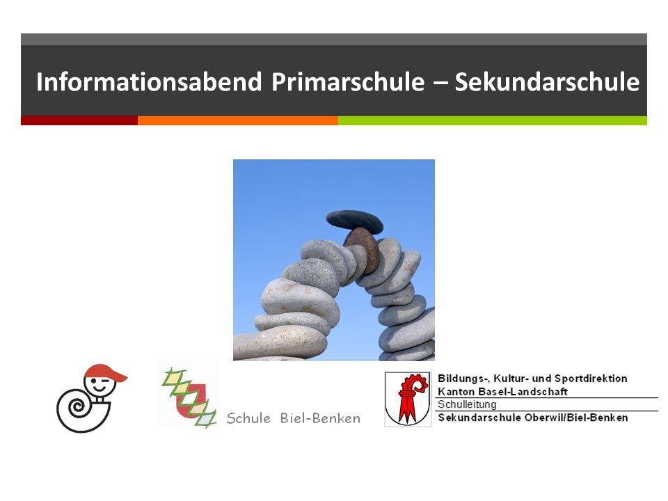 Informationsabend Primarschule – Sekundarschule