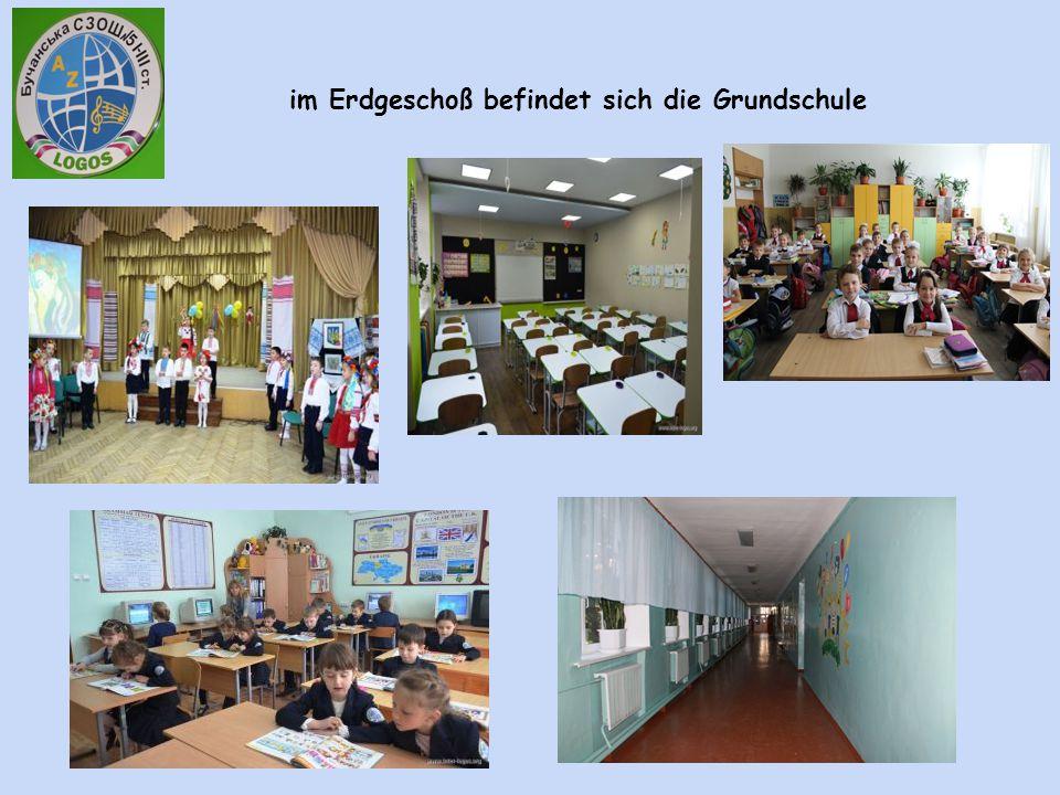 im Erdgeschoß befindet sich die Grundschule