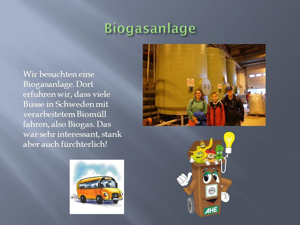 Wir besuchten eine Biogasanlage.