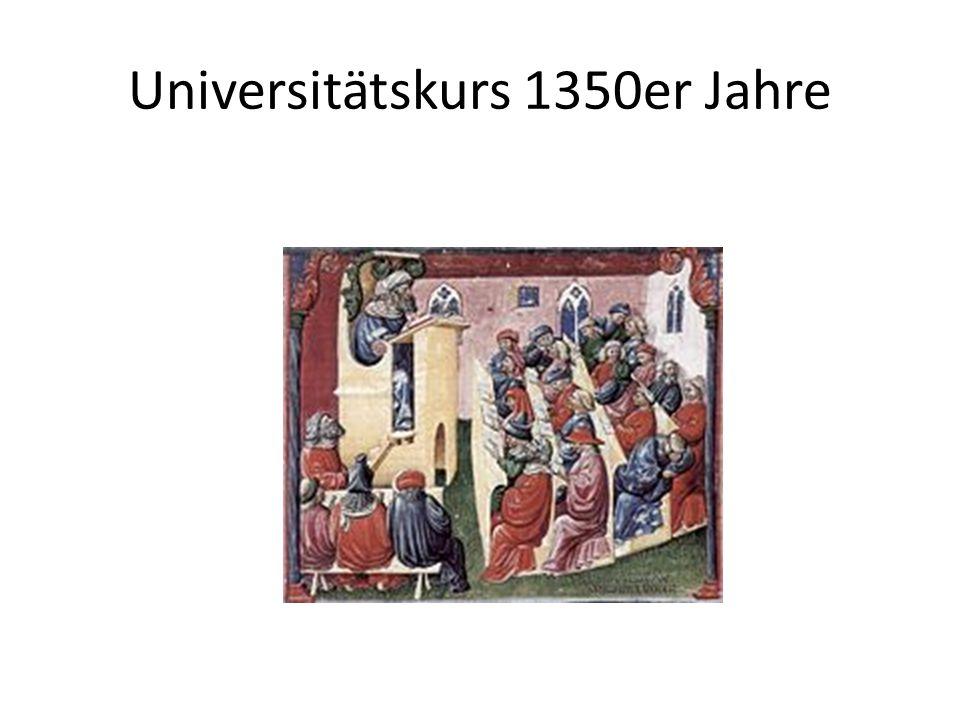 Universitätskurs 1350er Jahre