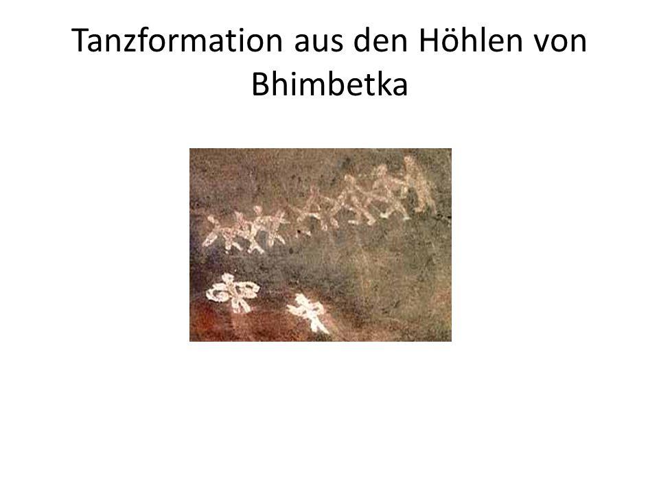Tanzformation aus den Höhlen von Bhimbetka