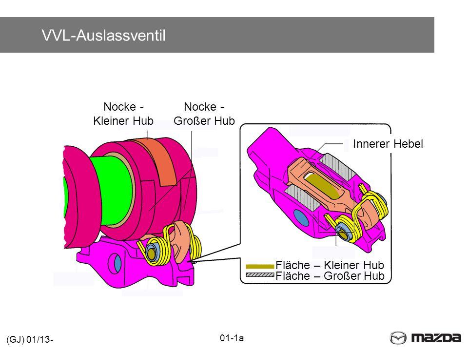 Innerer Hebel Nocke - Kleiner Hub Nocke - Großer Hub Fläche – Kleiner Hub Fläche – Großer Hub VVL-Auslassventil 01-1a (GJ) 01/13-