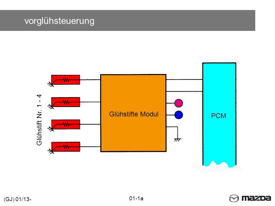 vorglühsteuerung Glühstift Nr. 1 - 4 Glühstifte Modul PCM 01-1a (GJ) 01/13-