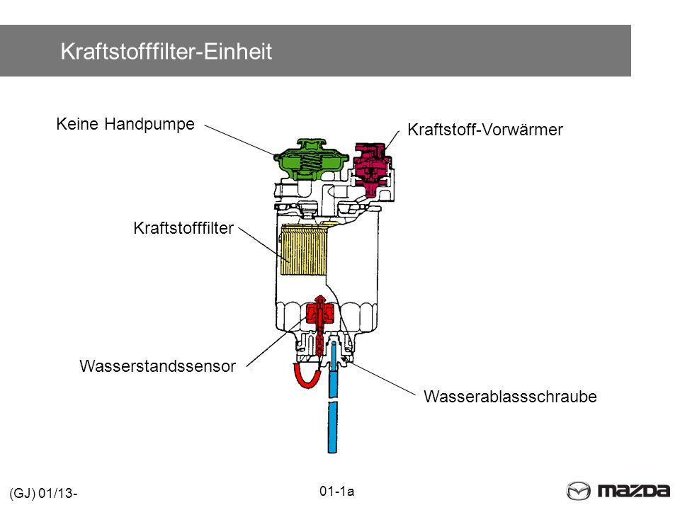 Kraftstofffilter-Einheit Wasserstandssensor Kraftstofffilter Kraftstoff-Vorwärmer Keine Handpumpe Wasserablassschraube 01-1a (GJ) 01/13-