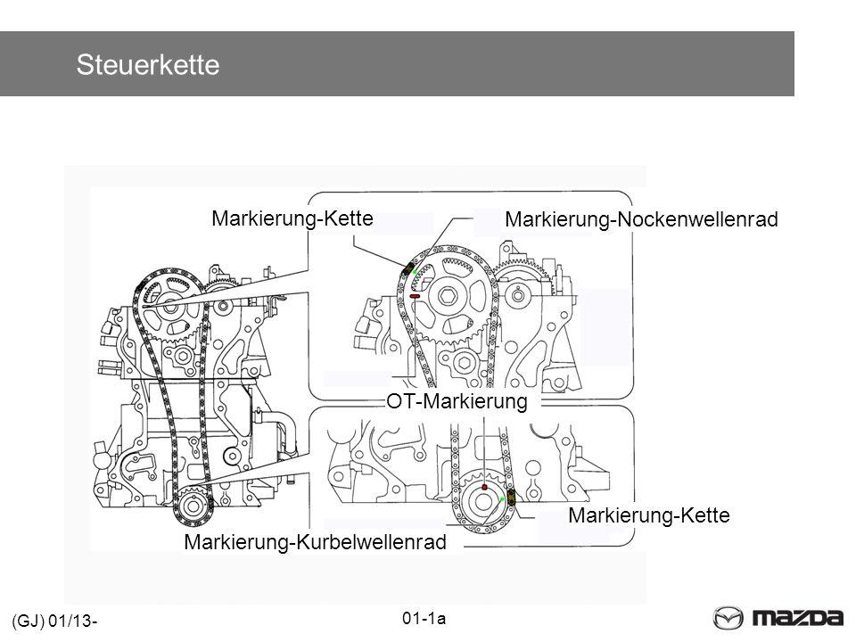 Steuerkette Markierung-Kette OT-Markierung Markierung-Nockenwellenrad Markierung-Kette Markierung-Kurbelwellenrad 01-1a (GJ) 01/13-