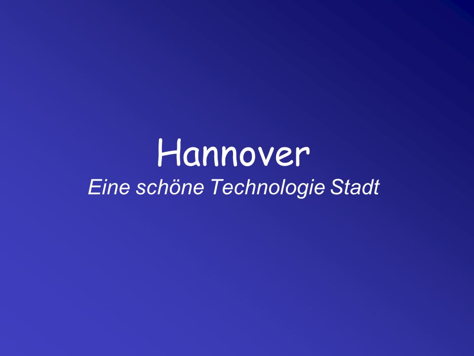Wo ist Hannover?