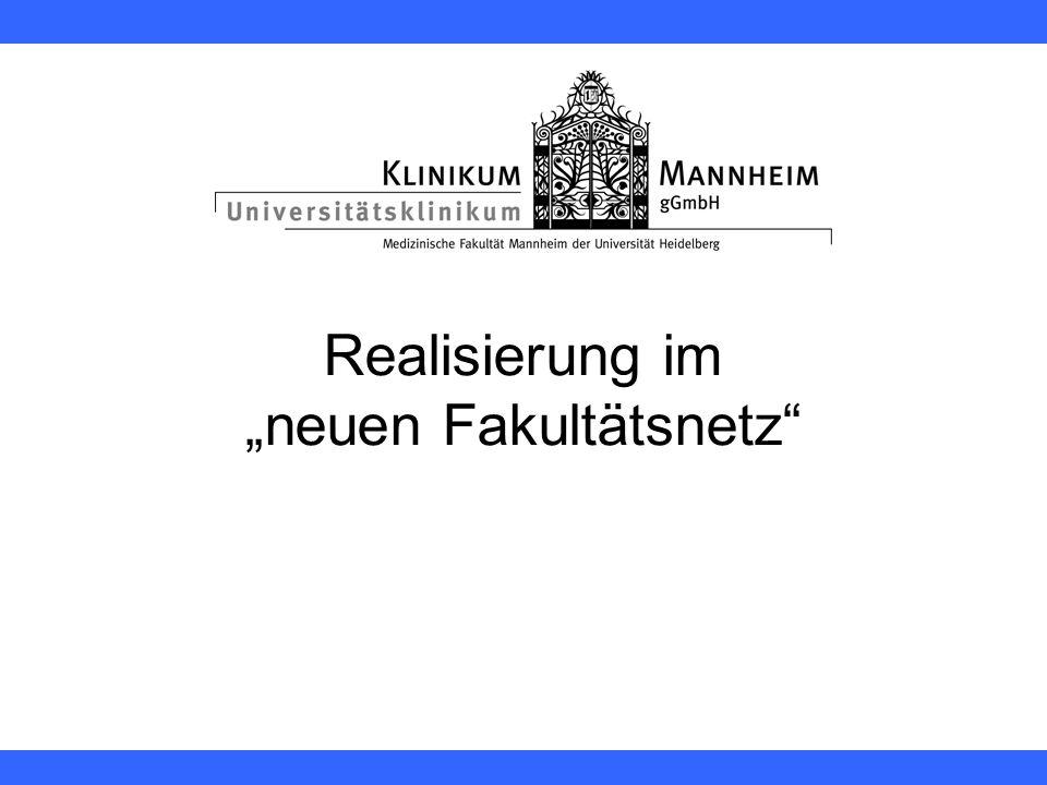 """Realisierung im """"neuen Fakultätsnetz"""