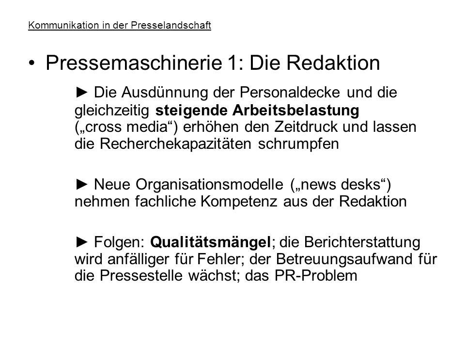 """Kommunikation in der Presselandschaft Konzentrationsprozesse und ihre Folgen ► Beispiele: Gruner+Jahr legt die Redaktionen von """"Capital"""", """"Impulse"""" un"""