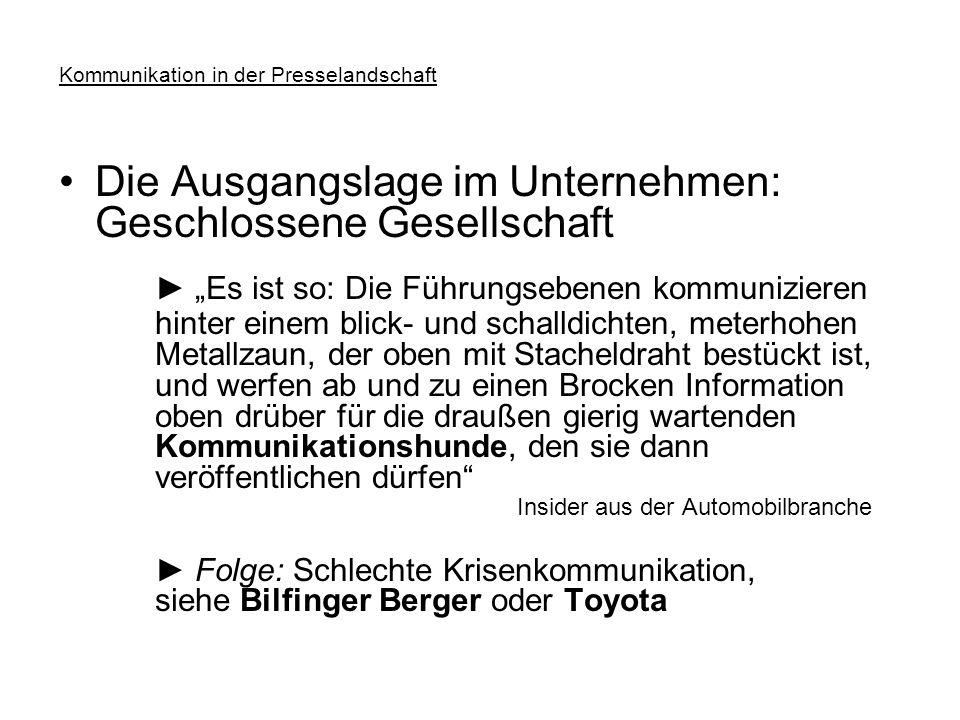 """""""Kommunizieren in der Presselandschaft Hochschule für Wirtschaft Ludwigshafen/Rhein 27."""