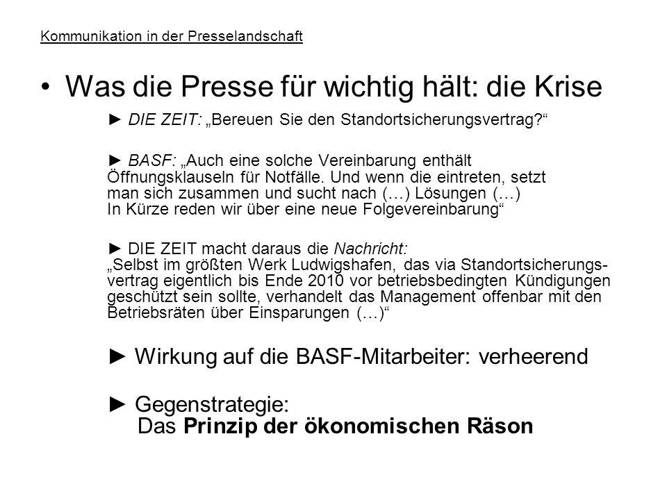 """Kommunikation in der Presselandschaft Was der Chef für wichtig hält: sich selbst ► """"Als Nationaler Champion eines Kreises europäischer Spitzenmanager hat XY-Chef Dr."""