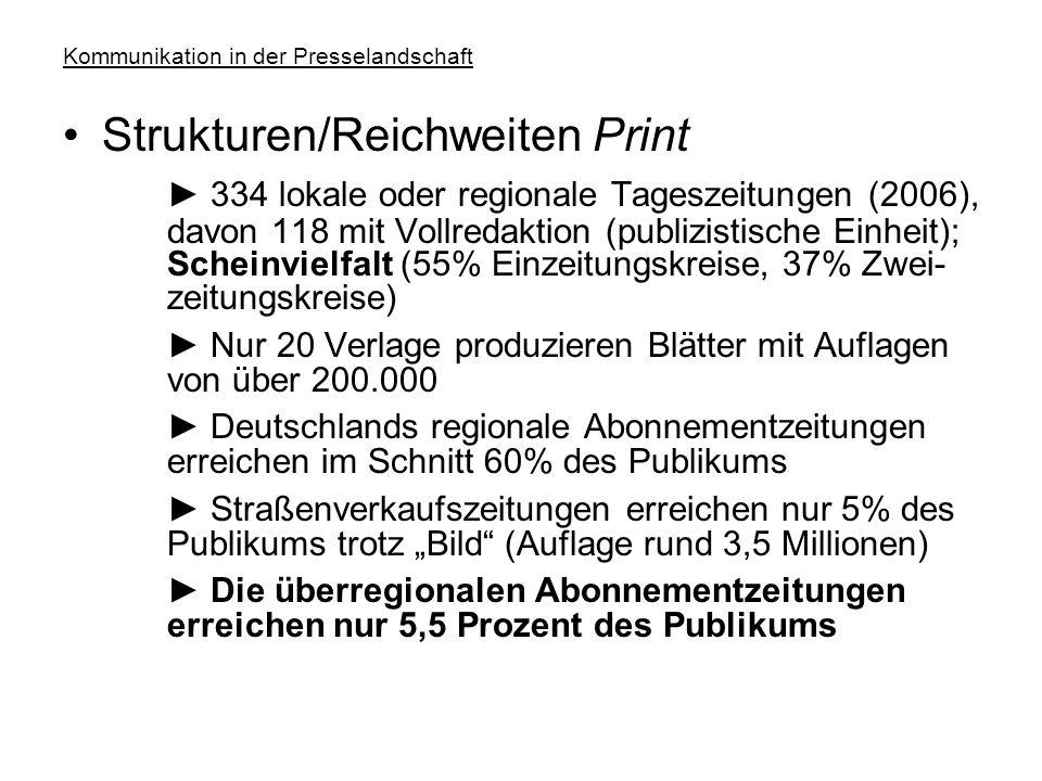 """Kommunikation in der Presselandschaft Publikum (14 bis 49) und Zeitbudget ► Hörfunk: 221 Minuten täglich; Budget: 37% aber: Nebenher-Effekt (""""easy lis"""