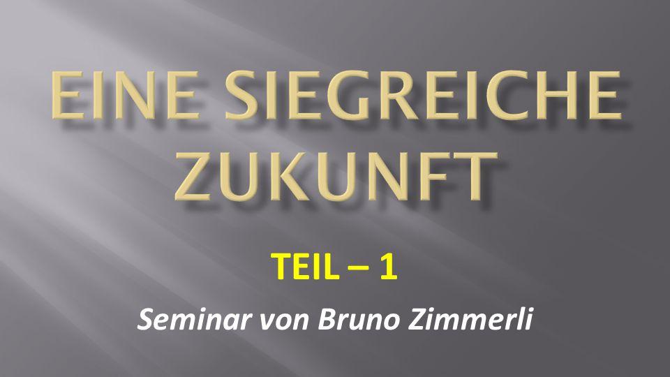 TEIL – 1 Seminar von Bruno Zimmerli