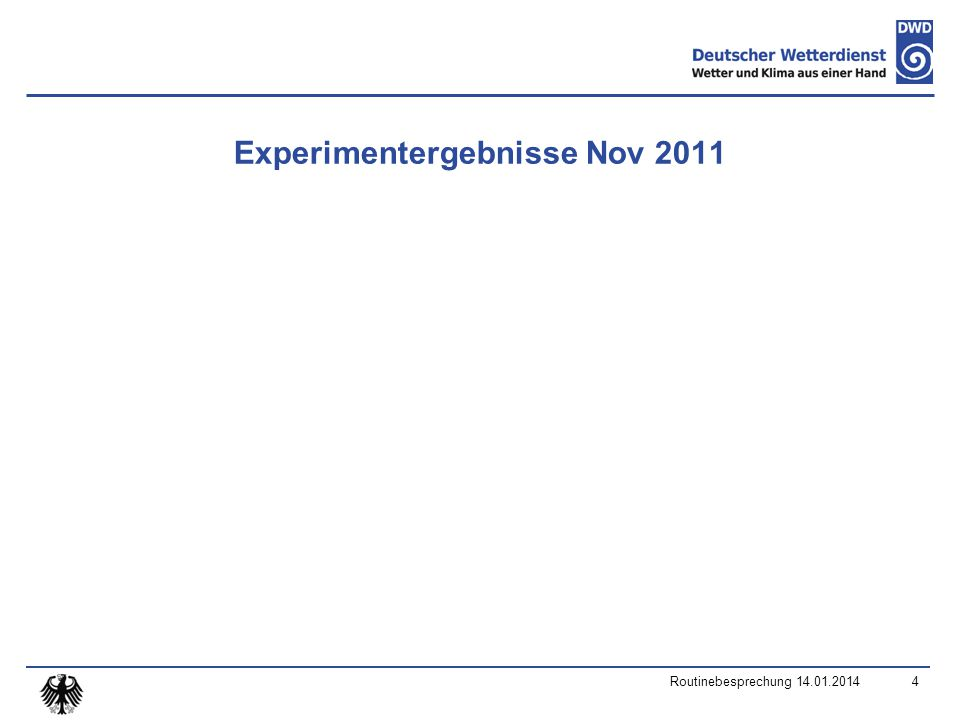 2m temperature perturbed minimum diffusion reference Skill (RMSE) spread Routinebesprechung 14.01.20145 Test period: November 2011, 00 UTC runs