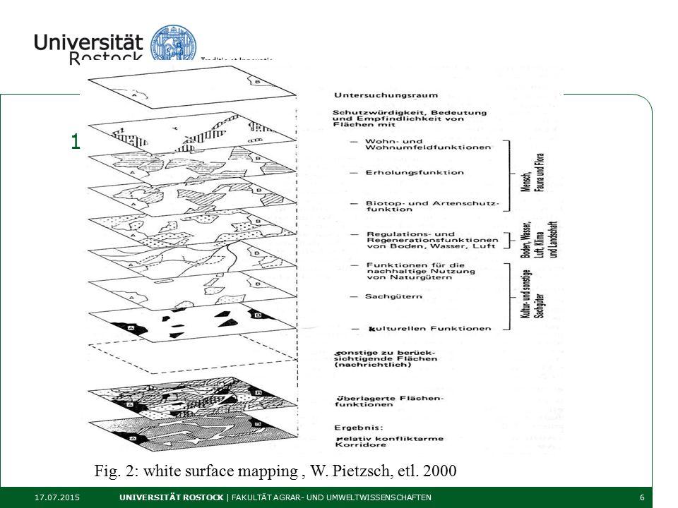 1. Protection of the so calld protection goods 17.07.2015 UNIVERSITÄT ROSTOCK | FAKULTÄT AGRAR- UND UMWELTWISSENSCHAFTEN6 Fig. 2: white surface mappin