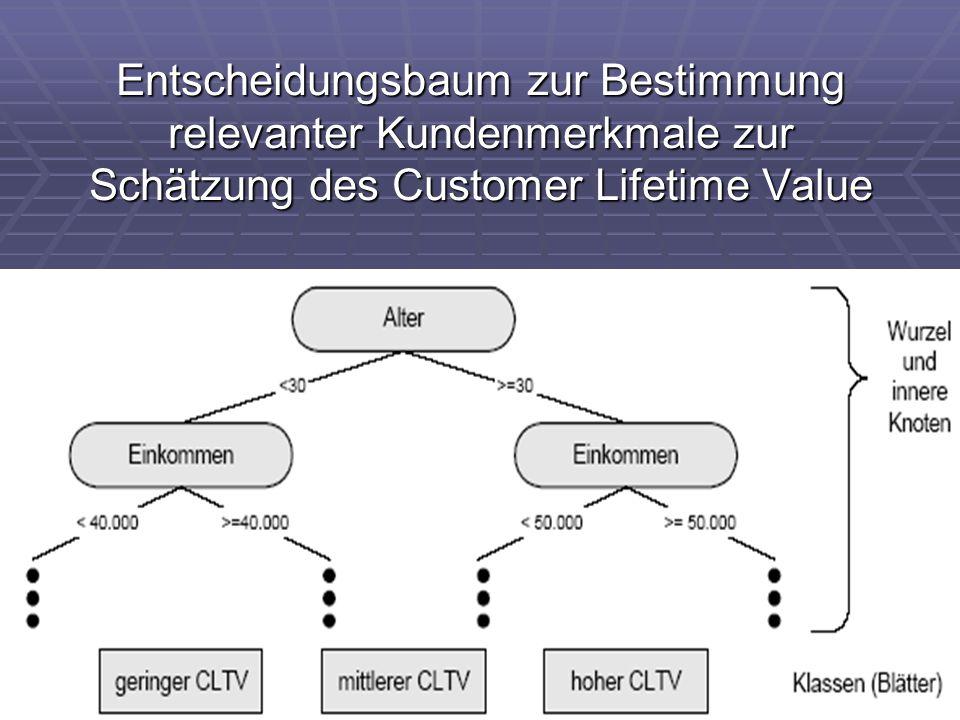 Entscheidungsbaum zur Bestimmung relevanter Kundenmerkmale zur Schätzung des Customer Lifetime Value