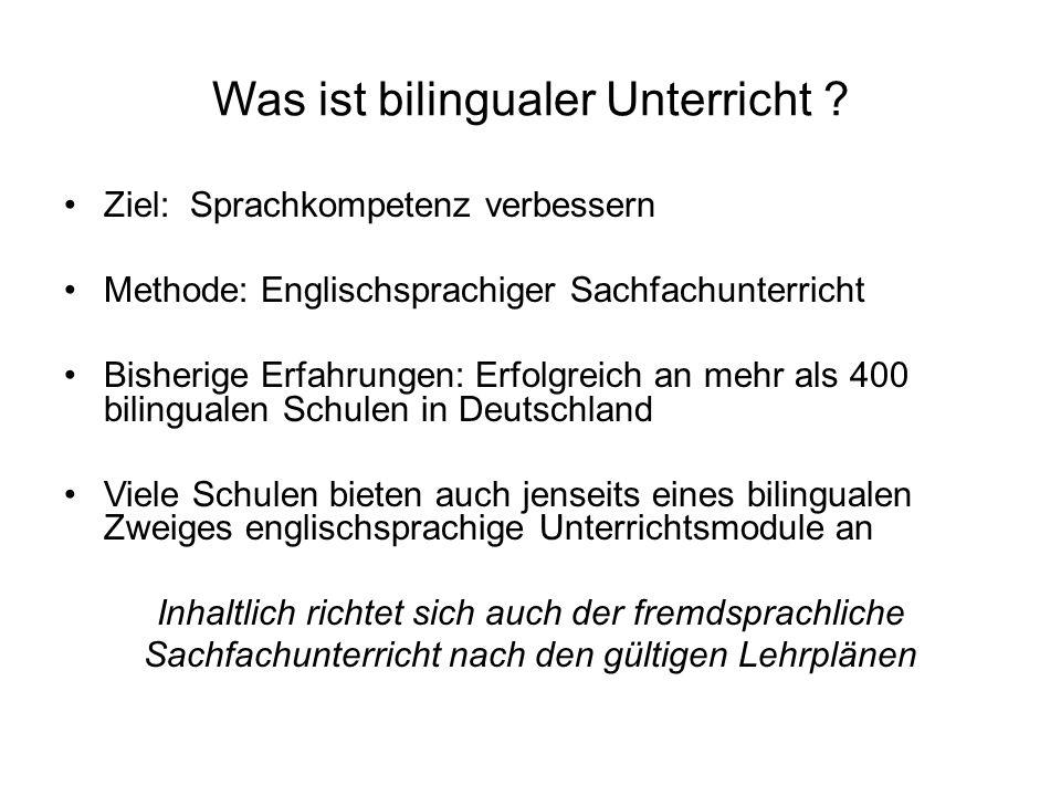Was ist bilingualer Unterricht .