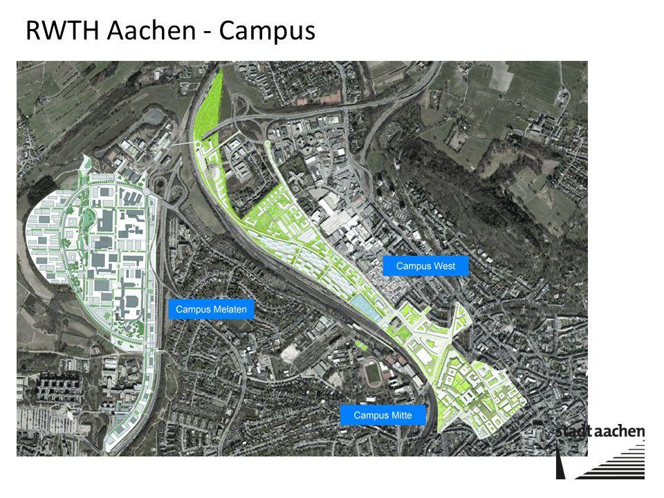 elf themenspezifische Forschungscluster Campus Melaten stellt das erste Teilprojekt, auf einer Fläche von 473000 Quadratmetern dar.