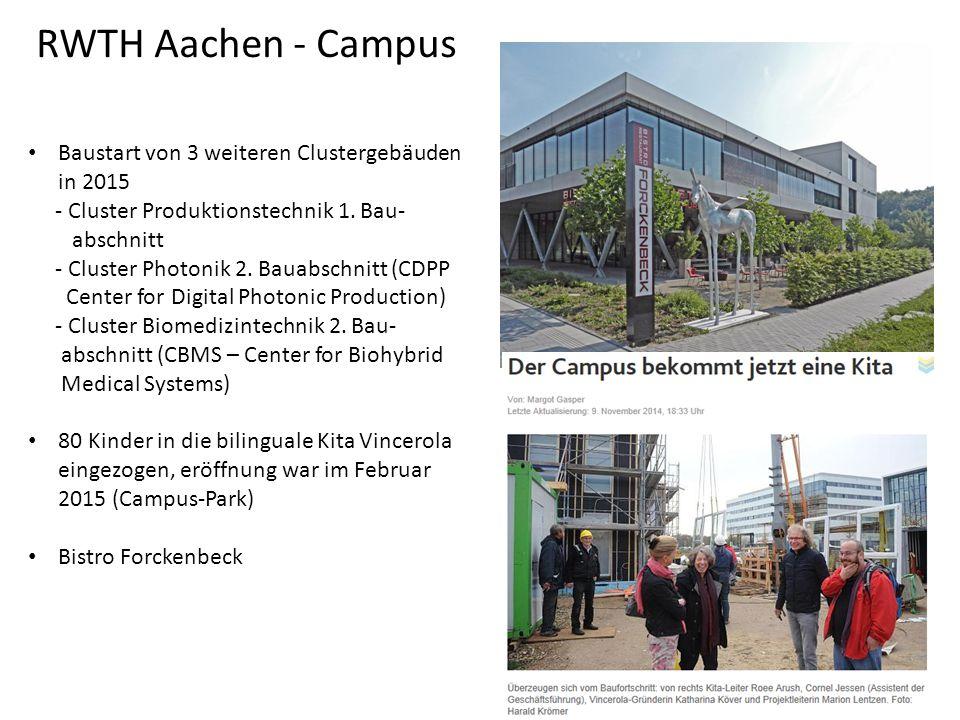 Baustart von 3 weiteren Clustergebäuden in 2015 - Cluster Produktionstechnik 1.