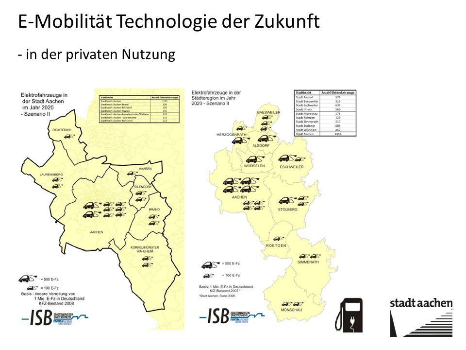 E-Mobilität Technologie der Zukunft - in der privaten Nutzung