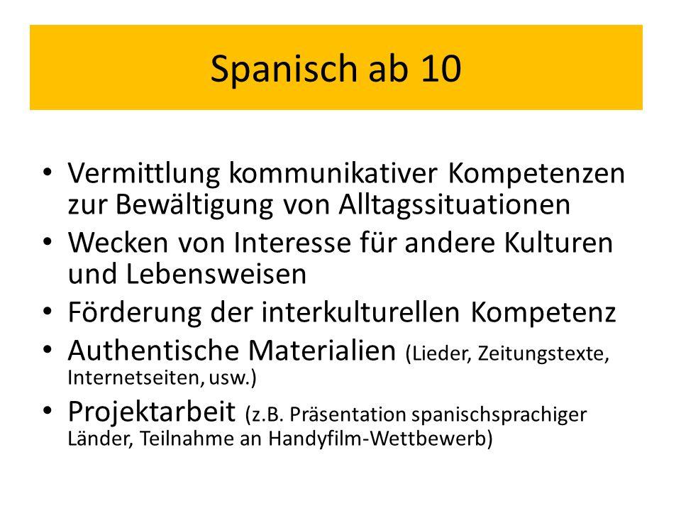 """Auf 6 Semester angelegter Lehrgang (mit jeweils 4 WS): 2 Semester Spracherwerb in Klasse 10 Grundlage: Lehrbuch """"A_tope.com , Cornelsen-Verlag ) 3."""