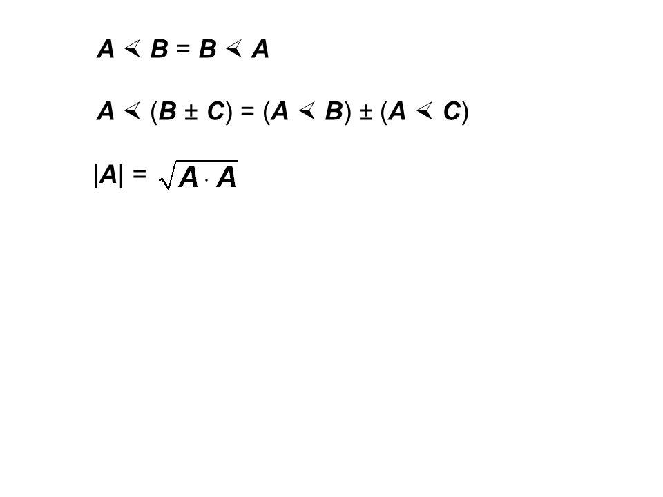 8.4 Skalarprodukt (inneres Produkt) A  B  C ist nicht definiert: (A  B)  C ≠ A  (B  C) kein neutrales Element 1 mit A  1 = A kein Inverses A -1