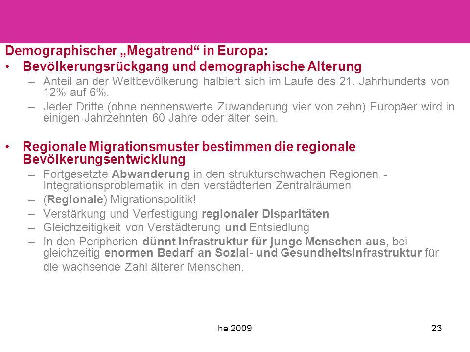 """he 200923 Demographischer """"Megatrend in Europa: Bevölkerungsrückgang und demographische Alterung –Anteil an der Weltbevölkerung halbiert sich im Laufe des 21."""