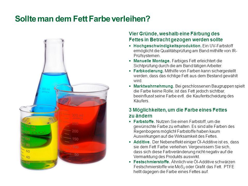 Sollte man dem Fett Farbe verleihen? Vier Gründe, weshalb eine Färbung des Fettes in Betracht gezogen werden sollte  Hochgeschwindigkeitsproduktion.