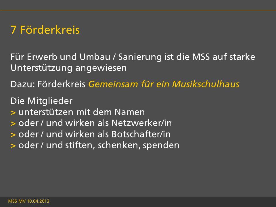 MSS MV 10.04.2013 Gründung Förderkreis 40 Jahre nach der Gründung der Jugendmusikschule Stäfa die zweite Gründung: Gemeinsam für ein Musikschulhaus Gründung am 2.2.2013 im Heinrich Meyer-Saal