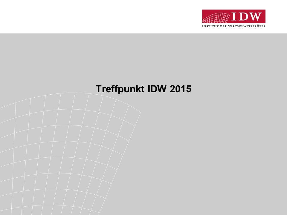 Treffpunkt IDW 2015