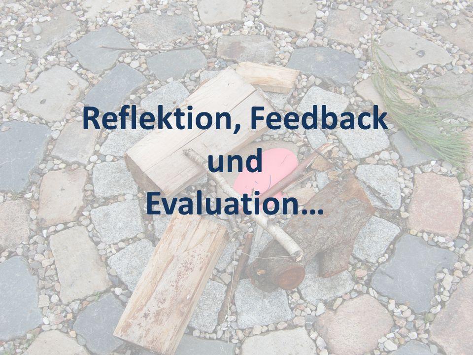Reflektion, Feedback und Evaluation…