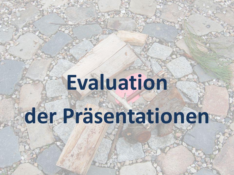 Evaluation der Präsentationen