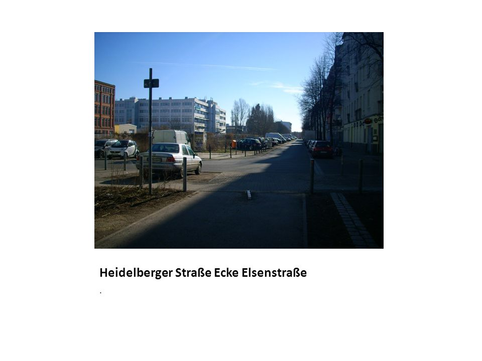 Heidelberger Straße Ecke Elsenstraße.
