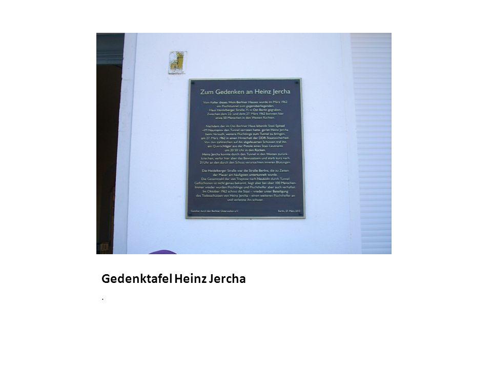 Gedenktafel Heinz Jercha.