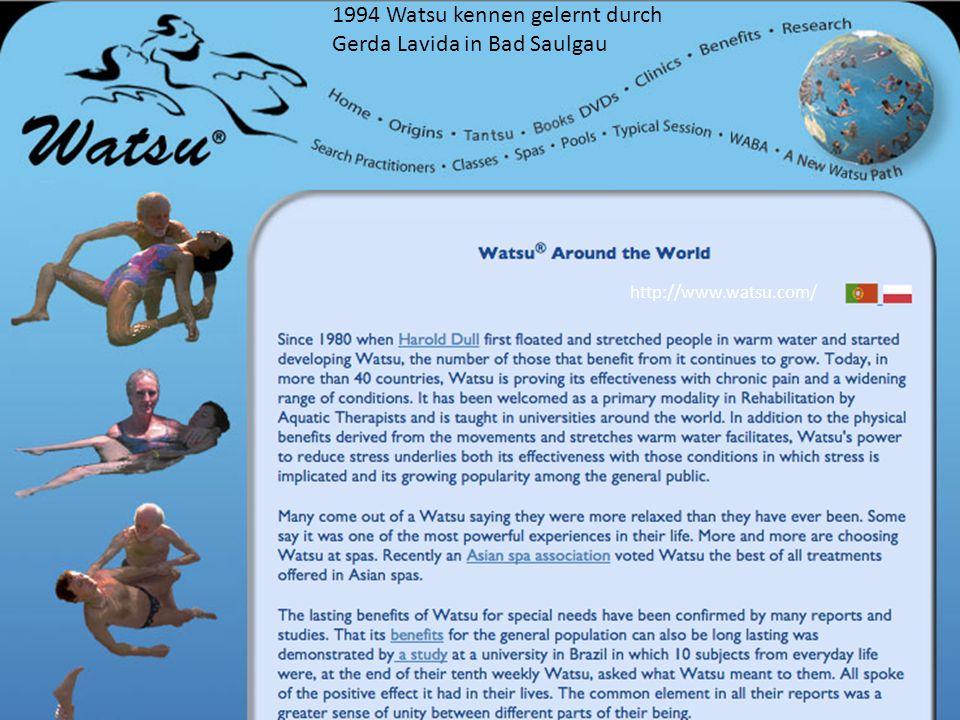 http://www.watsu.com/ 1994 Watsu kennen gelernt durch Gerda Lavida in Bad Saulgau
