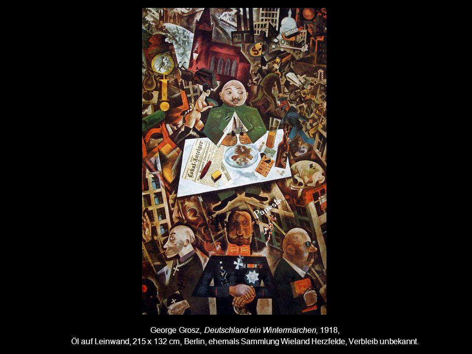"George Grosz, ""Der Sträfling Monteur John Heartfield, 1920, Aquarell und Collage, New York, The Museum of Modern Art."