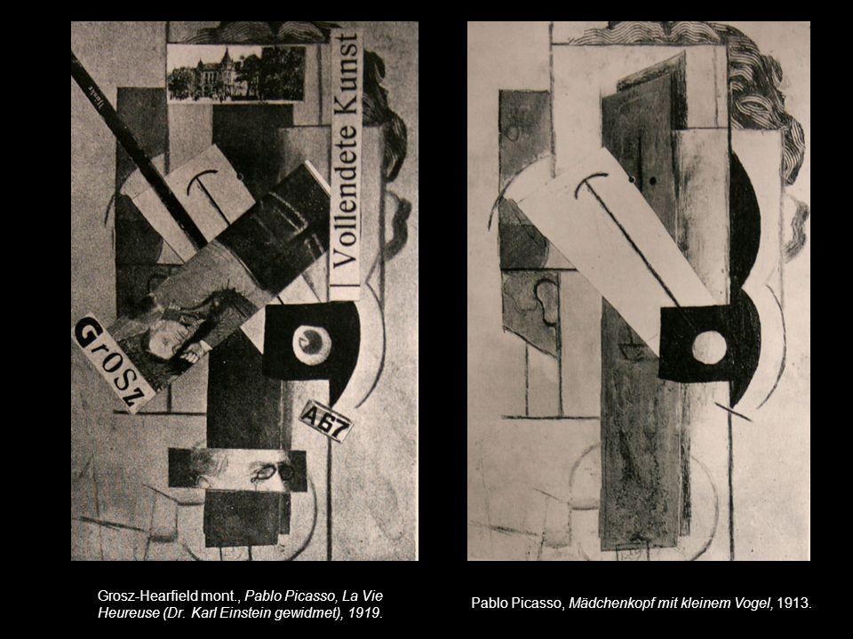 Zusammenhänge/Unterschiede zwischen den früheren und späteren Collagen von Grosz.